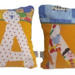 Färgglad barnkudde med namnet på är en uppskattad gåva